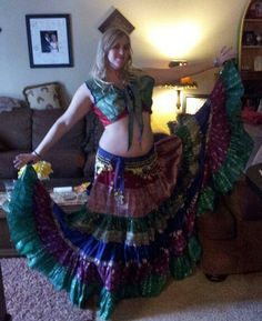 belly dance gopi costume, costume with your own measurement and color choice
