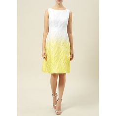 Buy Kaliko Ombre Dress, White/Yellow Online at johnlewis.com