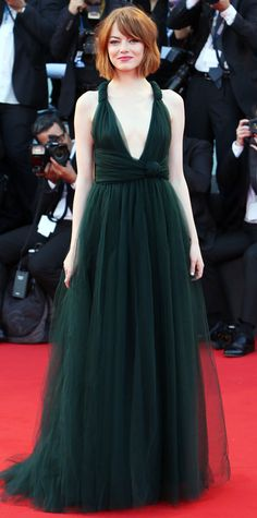 Emma Stone's 10 Best Red Carpet Looks Ever - Valentino Haute Couture, 2014 from #InStyle