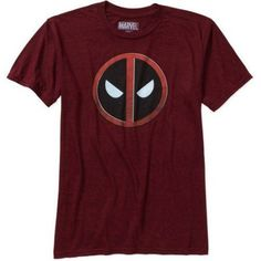 Marvel Men's Deadpool Pattern Short Sleeve Graphic Tee, Size: Large, Black