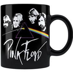 Caneca Personalizada Pink Floyd The Dark Side of the Moon 02 Alça Preta