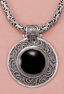 Hinged Sterling Silver Bali Pendant ONLY, 20mm Orange Black Shell, 1 13/16 inch (incl bail) Silver Messages. $89.99. Save 30%!