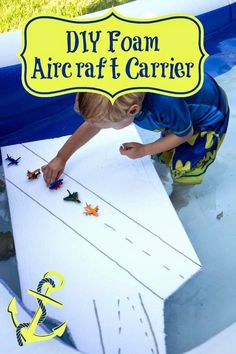 Life with Moore Babies: DIY Foam Aircraft Carrier