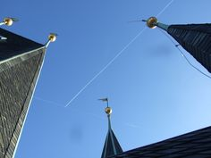 Gothic roofs at Old town´s tower