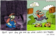 Great message, and I love the unbridled joy on Mario's face in the second panel.