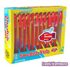 Just found Swedish Fish Candy Canes: 12-Piece Box @CandyWarehouse, Thanks for the #CandyAssist!