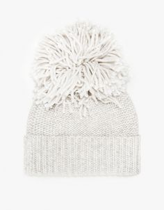 From Hansel From Basel, a soft, mid weight knit beanie in Ivory with ribbed cuff, round silhouette and matching pom top. Sweet Hug, Cute Fall Outfits, Arm Knitting, Pom Pom Hat, Street Style, Knit Beanie, Knit Crochet, Autumn Fashion, Basel
