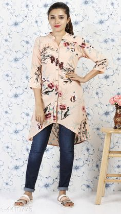 Tops & Tunics Stylish women's Tunic Fabric: Summercool Sleeves: Sleeves Are Included Size: S- 36 in M- 38 in L- 40 in XL- 42 in XXL- 44 in Length: Up To 38 in Type: Stitched Description: It Has 1 Piece Of Tunic Work: Printed Country of Origin: India Sizes Available: S, M, L, XL, XXL   Catalog Rating: ★4 (550)  Catalog Name: Alana Voguish Tops & Tunics Vol 3 CatalogID_634534 C79-SC1020 Code: 803-4410775-627