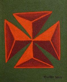 Abstrakt 430, olja på sandpapper. Abstract 430, oil on sandpaper.