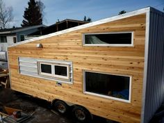 tiny house on wheels. a few pages back on this blog theres DIY lace screens. ooo they are cute!
