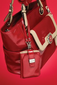 "Grace Adele ""Sarah"" bag + ""Lou"" clutch + ""Blossom"" clip-on + ""Phone Holder"" clip-on + ""Daisy Medallion"" in red    Click on picture 2x to see more fashion    https://myfashions.graceadele.us/GraceAdele/Home"