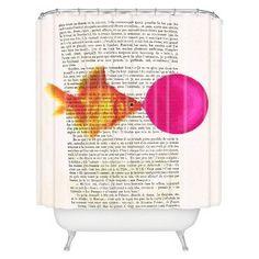 DENY Designs Goldfish With Bubblegum Shower Curtain : Target
