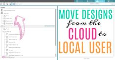 How to move Silhouette Studio designs from the Cloud to the local user library folder.