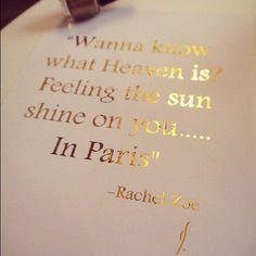 I am missing Paris...
