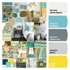 Paint colors from Chip It! by Sherwin-Williams for Lauren's bedroom