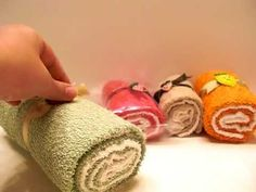 DIY GIFT IDEA: WASH CLOTH CAKE ROLLS! These are so cute to make as gifts!