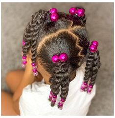 Black Baby Girl Hairstyles, Little Girls Natural Hairstyles, Toddler Braided Hairstyles, Toddler Braids, Kids Curly Hairstyles, Braids For Kids, Black Children Hairstyles, African American Kids Hairstyles, Little Girl Braids