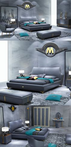 Navy Luxury Elegant Double Bed Bedroom Furniture From Stylish And Contemporary To Vintage And Traditional Bedroom Styles Modern And Luxury Bedroom Furniture Master Bedroom Plans, Wood Bedroom Sets, Modern Bedroom Design, Master Bedroom Design, Master Suite, Modern Luxury Bedroom, Master Master, King Bedroom, Double Bedroom