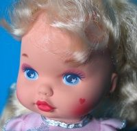 Little Miss Makeup Doll - her make up appeared when you rubbed her face with a wet washrag.