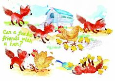 fox and hen- Debbie Clark illustrator