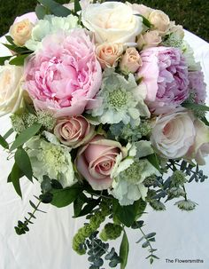 Wedding bouquet in blush pinks apricots and lilacs   Flickr - Photo Sharing!