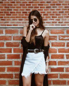 Saia branca + Blusinha Preta » STEAL THE LOOK