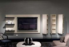 TV wall - modern TV cabinets designs pictures