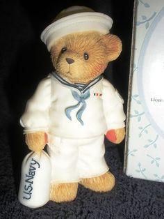 New Enesco Cherished Teddies Joel U s Navy Sailor Figurine 706957 Issue 1 | eBay