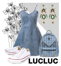 """LUCLUC 3/5"" by eernaa ❤ liked on Polyvore featuring мода, Converse, MCM и lucluc"