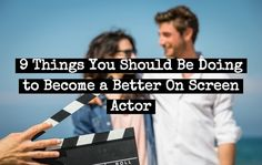"Here are the differences between theater acting and on screen acting and 5 things you should be doing. The most common response would be ""well there's a lot of things"" that are different between theater and TV/Film acting. But essentially, on scree… Acting Quotes, Acting Tips, Acting Class, Acting Career, Voice Acting, Singing Lessons, Singing Tips, Acting Lessons, Acting Skills"