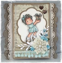 Magnolia Card by LLC DT Member Elizabeth Elton Hagen, using papers from Riddersholm Design.
