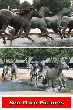 Texas Usa, Mustangs, More Pictures, Garden Sculpture, Sculptures, United States, The Unit, Horses, Outdoor Decor