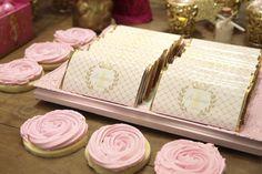 Chocolate Bars + Cookies from a Princess Aurora + Sleeping Beauty Birthday Party via Kara's Party Ideas KarasPartyIdeas.com (23)