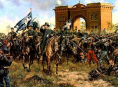 Hancock arrives at Gettysburg by Don Troiani