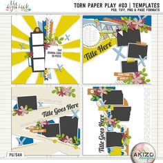 Torn Paper Play #03 | Templates by Akizo Designs.