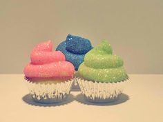 Whaat?! Glitter, frosting, and cupcakes . . . these are a few of my favorite things!