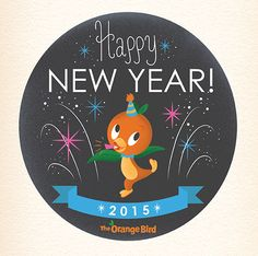 orangebirdNewYear Disney 2017, Disney Girls, Disney Love, Walt Disney, Bird Wallpaper, Disney Wallpaper, Happy New Year 2015, Happy 2015, Disney Magic Bands