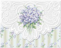 Carol Wilson Stationery  Violets Note Card