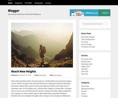 Blogger Free WordPress Theme