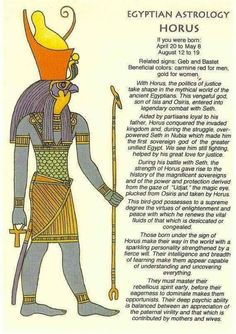 Egyptian Horoscope for Horus. Character Traits, Hidden Talents for Men and Women by Date of Birth: Legacy of the Patron Deity in Ancient Astrology. Egyptian Mythology, Egyptian Symbols, Ancient Egyptian Art, Egyptian Goddess, Ancient History, Egyptian Eye, European History, Ancient Aliens, Ancient Greece
