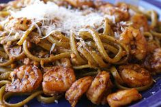 Smoky Shrimp Fettucine