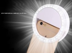 Hot Sale Luxury New Universal LED Flash Light Up Selfie Luminous Phone Ring For iPhone SE 5 6 6S Plus LG Samsung HTC LG