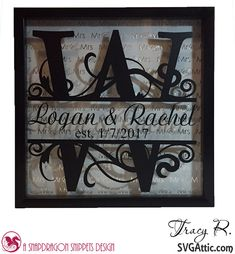 Tracy here from the Idea Closet and today is my turn to post for SVG Attic. My daughter is getting married this weekend and I have b. Flower Shadow Box, Diy Shadow Box, Shadow Box Frames, Wedding Shadow Boxes, Cricut Vinyl, Cricut Air, Cricut Craft, Licht Box, Cricut Wedding