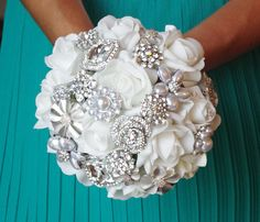 Hey, I found this really awesome Etsy listing at http://www.etsy.com/listing/157368390/spectacular-silk-brooch-wedding-bouquet
