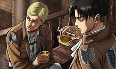 Screenshot of Levi and Erwin from Escape From Certain Death