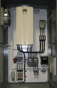 Pumping control panel with adjustable speed drive