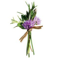Brides: Rustic, Purple Wedding Boutonniere : Wedding Flowers Gallery