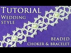 "DIY: beading wedding lace choker (bracelet) / Свадебный чокер (браслет) ""Кружево"" - YouTube Beaded Bracelets Tutorial, Necklace Tutorial, Beaded Bracelet Patterns, Macrame Tutorial, Seed Bead Patterns, Beading Patterns, Lace Weddings, Wedding Lace, Necklaces"