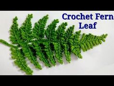 Crochet Fern 🌿 Leaf Crochet Fern 🌿 Leaf Learn the fact (generic term) of how to crochet, starting at Appliques Au Crochet, Crochet Leaf Patterns, Crochet Leaves, Crochet Motifs, Freeform Crochet, Crochet Stitches, Crochet Puff Flower, Crochet Cactus, Crochet Flower Tutorial
