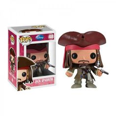 This is a Jack Sparrow POP Vinyl Figure that is produced by the nice folks over at Funko. That's Captain Jack Sparrow! He looks great in his Funko POP Vinyl sty Figurines D'action, Pop Figurine, Disney Figurines, Disney Pop, Disney Pixar, Pop Vinyl Figures, Stick Figures, Vinyl Toys, Funko Pop Vinyl